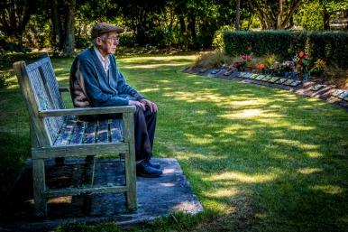 Dad at Mums Memorial