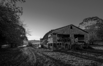 Morning light Old Woolshed-