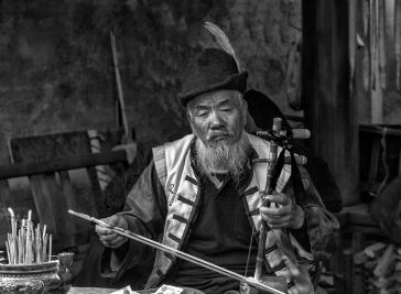 A-Old man musician