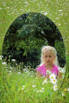 a-Mirror Reflection. Emma in her Field of Dreams