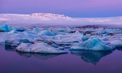 Kalfaflsstadur ice bergs Iceland