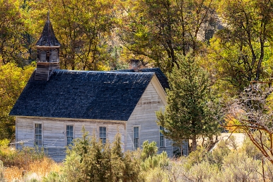 b-Ghost Town Abandoned Church Oregon