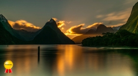 b-Mitre Peak Sunset_