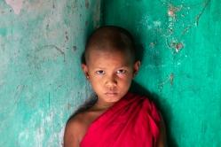 a-Young Novice Monk, Myanmar