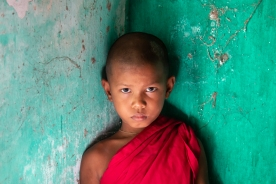 a-Young Novice Monk, Myanmar